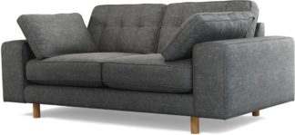 An Image of Content by Terence Conran Tobias, 2 Seater Sofa, Textured Weave Slate, Light Wood Leg
