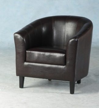 An Image of Tempo Tub Chair In Expresso Brown