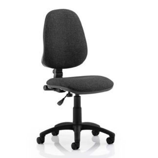 An Image of Eclipse Plus I Office Chair In Charcoal No Arms