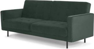 An Image of Rosslyn Click Clack Sofa Bed, Autumn Green Velvet