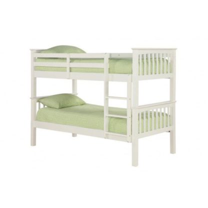 An Image of Leno Solid Off White Finish 2 Tier Bunk Bed