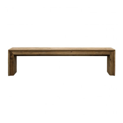 An Image of Orchard Wooden Dining Bench In Oak