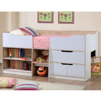 An Image of Nottingham Children Cabin Bed In White And Oak