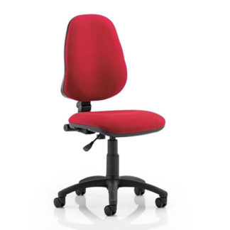 An Image of Eclipse Plus I Office Chair In Wine No Arms