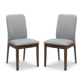 An Image of Berkeley Grey Dining Chair In Pair