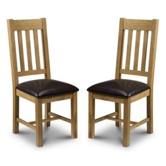 An Image of Raven Wooden Dining Chairs In Waxed Oak In A Pair