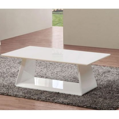 An Image of Astrik Coffee Table In White High Gloss