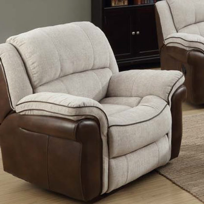 An Image of Lerna Fusion Lounge Chaise Armchair In Mink