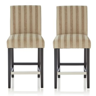An Image of Alden Bar Stools In Sage Fabric And Black Legs In A Pair