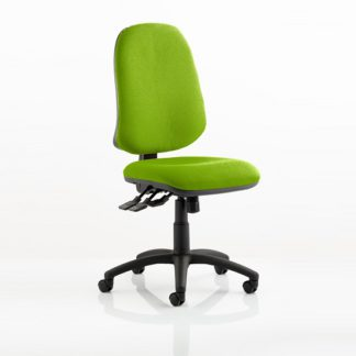 An Image of Olson Home Office Chair In Green With Castors