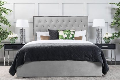 An Image of Lavinia Storage Bed Platinum Grey