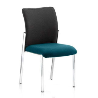 An Image of Academy Black Back Visitor Chair In Maringa Teal No Arms