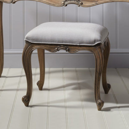 An Image of Chic Dressing Stool In Weathered Finish