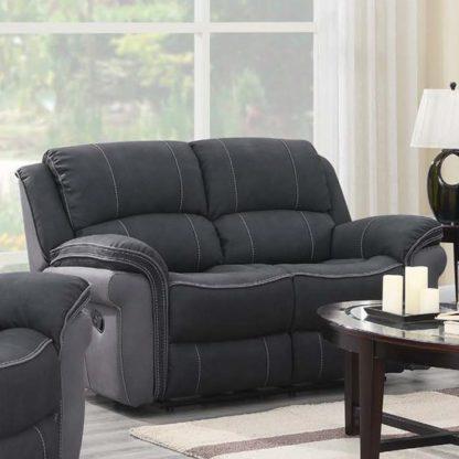 An Image of Koeia Fabric 2 Seater Sofa In Charcoal Fusion