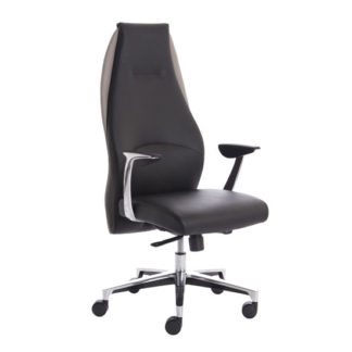 An Image of Mien Leather Executive Office Chair In Black And Mink
