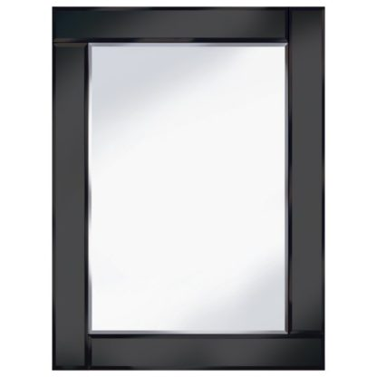 An Image of Bevelled Black 60x80 Rectangle Wall Mirror