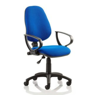 An Image of Eclipse Plus I Office Chair In Blue With Loop Arms
