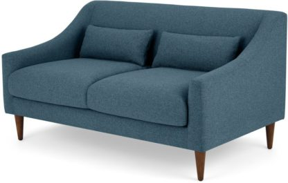 An Image of Herton 2 Seater Sofa, Orleans Blue