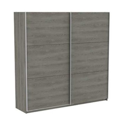 An Image of Selsey Sliding Wardrobe Extra Large In Hudson Oak With 2 Doors