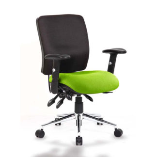 An Image of Chiro Medium Back Office Chair With Myrrh Green Seat