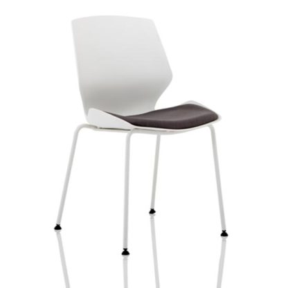 An Image of Florence Fabric Office Visitor Chair In Dark Grey