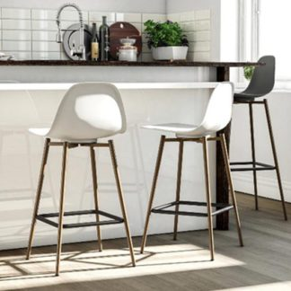 An Image of Copley Plastic Bar Stool In White