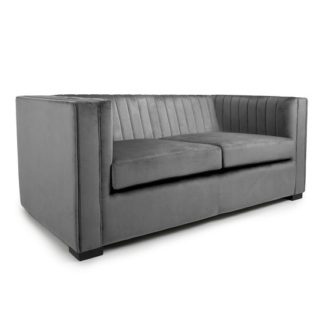 An Image of Torin 2 Seater Sofa In Grey Brushed Velvet