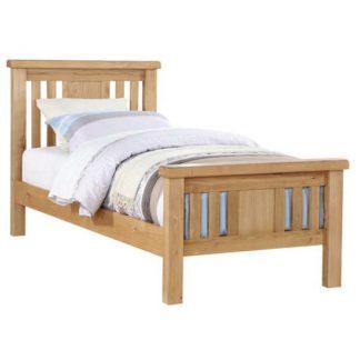 An Image of Heaton Wooden Single Bed In Oak