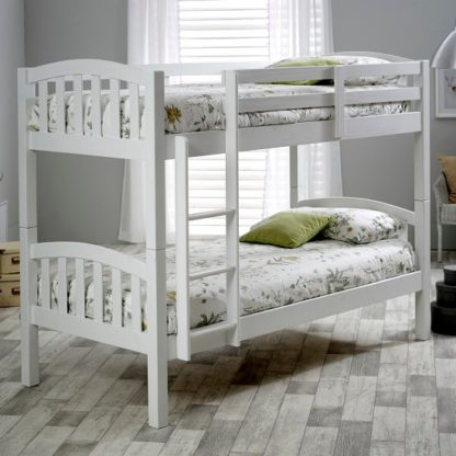 An Image of Rowley Wooden Bunk Bed In White Pine