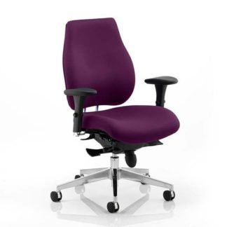 An Image of Chiro Plus Office Chair In Tansy Purple With Arms