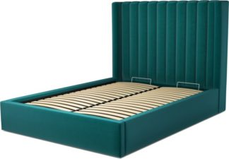 An Image of Custom MADE Cory Double size Bed with Ottoman, Tuscan Teal Velvet