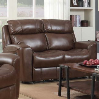 An Image of Mebsuta Leather 2 Seater Sofa In Tan
