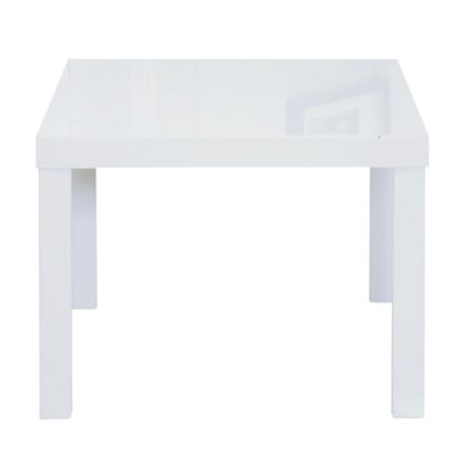 An Image of Puro End Table In White High Gloss