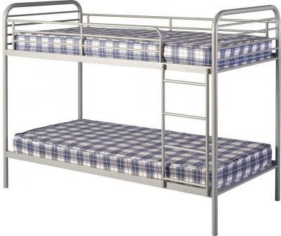 An Image of Bradley 3' Metal Budget Bunk Bed in Silver
