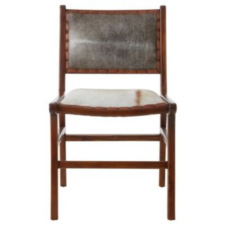 An Image of Formosa Teak Wood Dining Chair In Brown