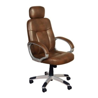 An Image of Viking Leather Air Office Chair In Tan