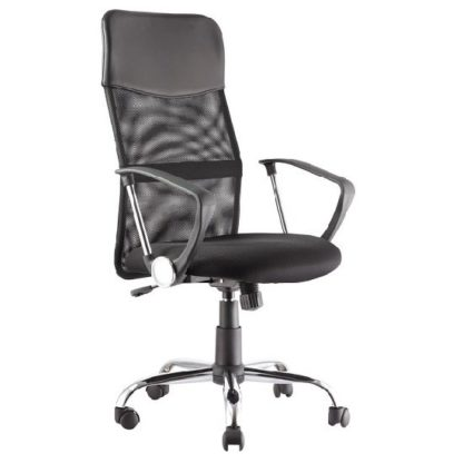 An Image of Benzine Home Office Chair In Black Mesh