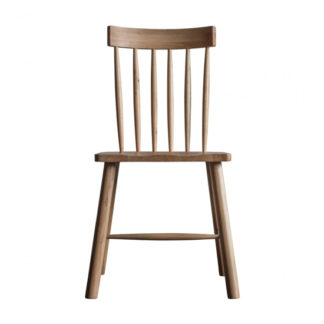 An Image of Kingham Wooden Dining Chair In Oak