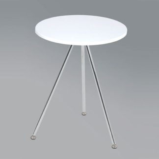 An Image of Wito End Table In White and Chrome