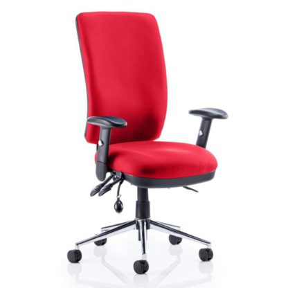 An Image of Chiro High Back Office Chair In Bergamot Cherry With Arms