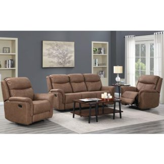 An Image of Proxima 3 Seater Sofa And 2 Armchairs Suite In Dark Taupe