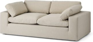 An Image of Samona 2.5 Seater Sofa, Natural Cotton & Linen Mix