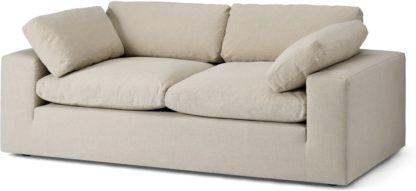 An Image of Samona 2.5 Seater Sofa, Natural Cotton & Linen Mix