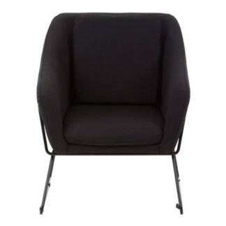 An Image of Porrima Black Chair With Stainless Steel Legs