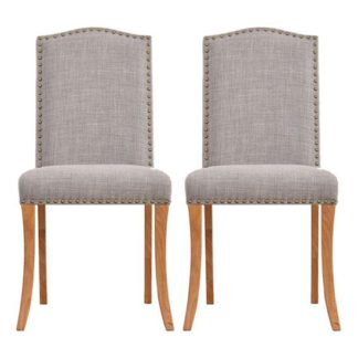An Image of Evesham Grey Finish Dining Chair In Pair