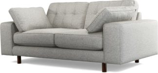 An Image of Content by Terence Conran Tobias, 2 Seater Sofa, Textured Weave Grey, Dark Wood Leg