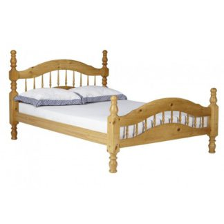 An Image of Padova Pine Wooden 4 Foot Bed In Oak