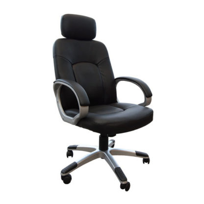 An Image of Viking Leather Air Office Chair In Black