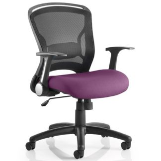 An Image of Mendes Contemporary Office Chair In Purple With Castors