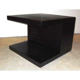 An Image of Helsinki Wooden End Side Table In Natural Black Ash